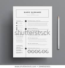 Modern Minimalist Resume Free Template Minimal Professional Cv Resume Template Super Stock Vector Royalty