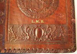 vine leather book cover lion of st mark italy