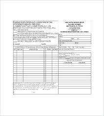 auto repair forms vehicle repair order template auto shop work form automotive