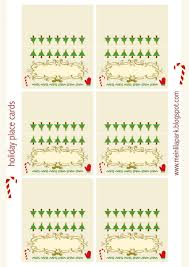 Holiday Placecards Printable Holiday Place Cards Download Them And Try To Solve