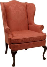 Queen Anne Living Room Furniture Queen Anne Wingback Chair Magielinfo