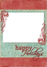 Happy Holiday Card Templates Happy Holidays Blue Red Christmas Card Template Christmas