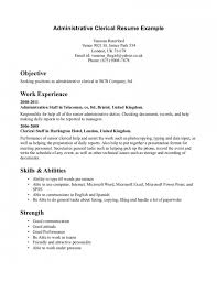 Clerical Resume Templates. Samples Job Resumes Clerical Resume .