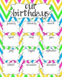 Printable Birthday Chart For Teachers Best Happy Birthday