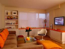 Burnt Orange And Brown Living Room Concept Simple Decorating Ideas
