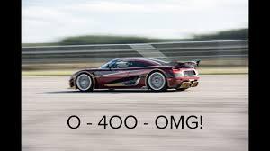 Koenigsegg Agera RS 0-400-0 - YouTube