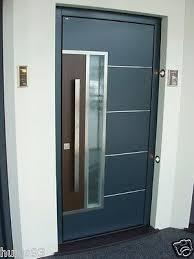 modern stainless steel entrance glass
