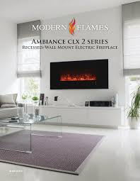 ambiance clx 2 series recessed wall mount electric fireplace al60clx2 g manualzz com