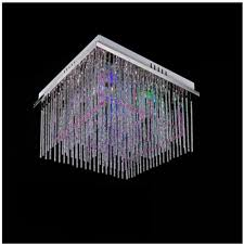 chandelier led light modern crystal chandelier e27 450mm 450mm rgb color change stainless steel chandeliers ceiling lighting with remot multi coloured