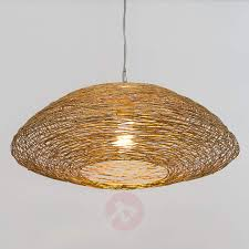 pendant light piseo with a woven metal lampshade 4512521 01