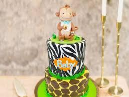2 Tier Monkey Fondant Cake Monkey Musing Cake Bakingo
