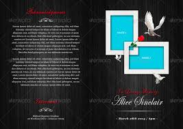 Modern Funeral Program Brochure Template By Designs4U | Graphicriver