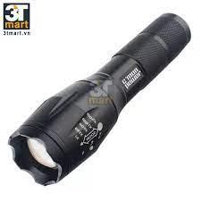 Bộ 1 đèn pin Cmon Power GUARD T6 LED + 1 pin sạc + bộ sạc nhanh 1A USB +  giá gắn xe đạp