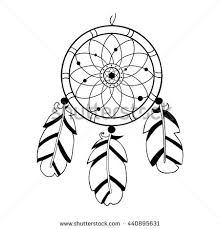 Dream Catcher Symbolism Adorable Dreamcatcher Hand Drawn Vector Illustration Native American Indian
