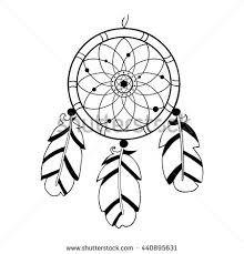 Dream Catcher Symbolism Adorable Dreamcatcher Hand Drawn Vector Illustration Native American Indian