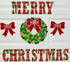 holiday garage door decorations that are magnetic for cars wreathset jpg full size