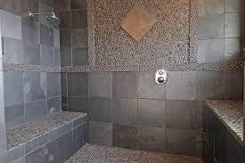 home and furniture unique stone shower floor in sliced java tan pebble tile s