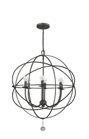 6 light english bronze industrial chandelier dd in clear glass drops 9226 eb elite fixtures