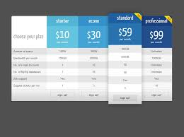 Pricing Table Templates Css Price Table Templates