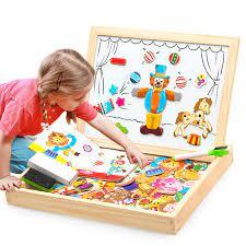100 + Bộ Nam Châm Bằng Gỗ Xếp Hình Đồ Chơi Trẻ Em 3D Xếp Hình Puzzle/Động  Vật/Xe/Rạp Xiếc Vẽ 5 phong Cách Học Tập Gỗ Đồ Chơi Puzzles