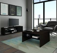 small space dark chocolate and black storage coffee table with stand main image tv ikea lack
