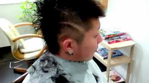 ヘアデザイン ラインの入れ方 Hair 髪型 Youtube
