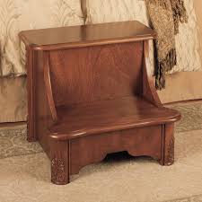 Powell Woodbury Mahogany 2 Step Manufactured Wood Bed Step Stool