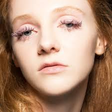 wedding makeup ideas glitter lashes