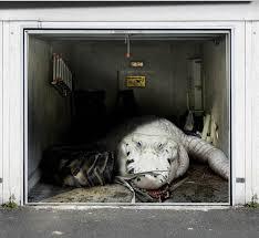 garage door artApartments Amazing Giant White Crocodile Wallpaper Decor For