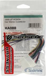 scosche ha08b wire harness to connect an aftermarket stereo car stereo wiring diagram pioneer at Connecting Wire Harness To Car Stereo