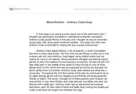 blood brothers essay help com blood brothers essay help