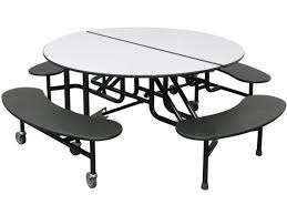 easy fold round cafeteria table