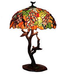 tiffany style gs birds mosaic table lamp