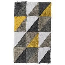 stylish yellow and gray bath mat yellow chevron bath rug roselawnlutheran