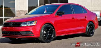 17x8 Niche Misano Satin Black on 2016 VW Jetta w/ Specs Wheels