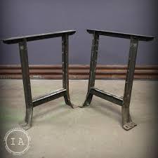 industrial furniture legs. Vintage Industrial Steel Table Legs Lyon Hallowell Furniture G
