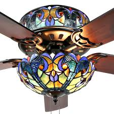 stained glass ceiling fan. Shop River Of Goods Halston Blue Stained Glass Tiffany-style Ceiling Fan - On Sale Free Shipping Today Overstock.com 16739311 A