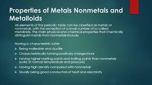 metals nonmetaletalloids ppt video