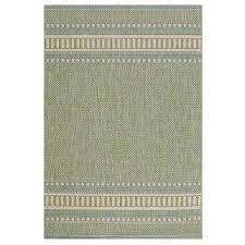 pueblo design green natural 6 ft x 9 ft area rug