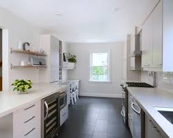 white kitchen dark tile floors. Mid Century Modern Kitchen Design, Pictures, Remodel, Decor And Ideas - Page 22. Tile Floor White Dark Floors