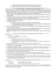 resume of logistics  amp  supply chain professional    years of enri…