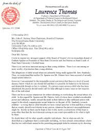 letter to the board of trustees of penn state university moral about laurence thomas