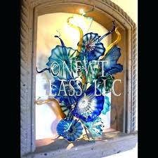 glass wall flowers glass wall flowers wall art plates blue niche blue niche hand blown glass