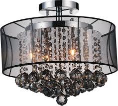 chrome drum chandelier and metal drum shade chandelier