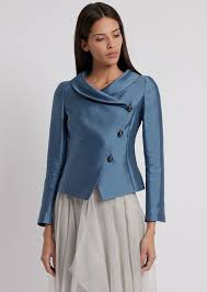 jacket in silk and cotton radzimir with diagonal oning