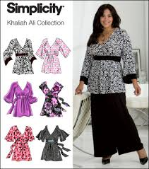 Plus Size Patterns Fascinating Simplicity 48 Plus Size Pullover Tunic Tops Khaliah Ali Collection