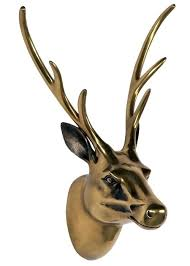 stags head wall decoration 1 antiqued bronze brass effect stag head antiqued brass effect stag head stags head wall decoration