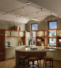 Kitchen With Vaulted Ceilings Killer Kitchen Track Lighting Ideas Progress Lighting Ways To