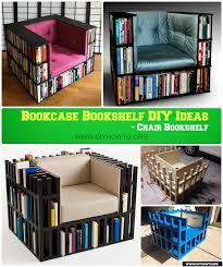 diy lux chair bookshelf bookcase chair instruction free plan