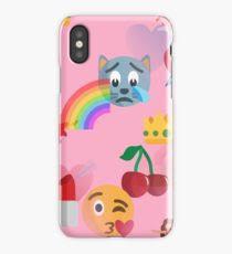 y pink emoji iphone case